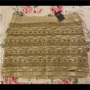 NWT- Gold Beaded Skirt 💎